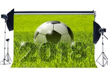 Football terrain toile de fond 2018 vert herbe prairie Nature Sports Match école jeu papier peint photographie fond