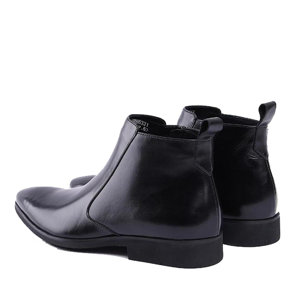 Spitz Schwarzes Herren Original American Für Importierten Kleid Knöchel Indische Schwarz Schuhe Arbeiten Sipriks Reißverschluss Leder Stiefel Italienischen H7TwaxaSq