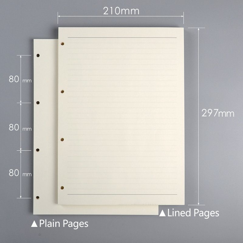 a4 filler paper with 4 holes organizer inner papers lined pages