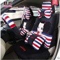 5 fundas de asiento para 1 Unidades niñas del asiento de coche de cuatro estaciones cordón femenino encantador de la historieta cubierta del amortiguador fundas de asiento de coche cojín de las mujeres estilo
