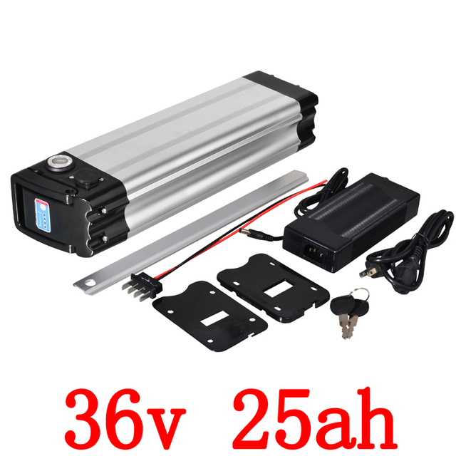 36V electric bicycle battery 36V 25AH electric bike battery 36V 25AH lithium battery use sanyo cell for 350W 500W 1000W mot