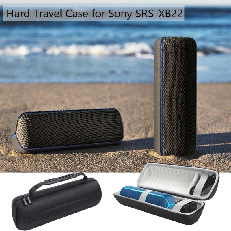 Round Shockproof Hard Protective EVA Case Box for Sony SRS-XB22 Extra Bass Portable Bluetooth Speaker