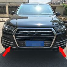 Free Shipping High Quality ABS Chrome Front Fog lamps cover Trim Fog lamp shade Trim For AUDI Q7 все цены