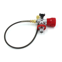 PCP Scuba Diving Valve CO2 Refill Adapter G5/8 Big Gauge Filling Station Carbon Fiber Cylinder Air Inflation to Small HPA Tank