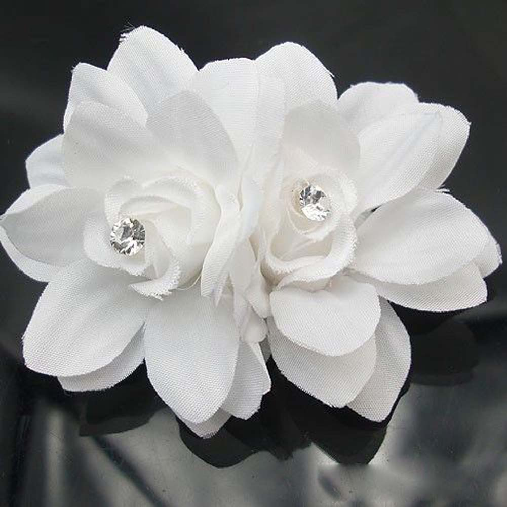 Beauteous Hair Flower Clip Pin Bridal Wedding Prom Party For Girl Women White