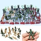 170pcs/set Military Plastic Model Toy Soldier Army Men Figures & Accessories Playset Kit Decor Gift Model Toys For Children