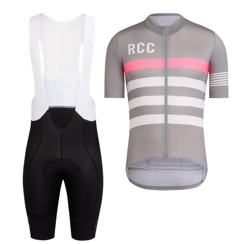 Prix pour Top qualité 2017 RCC COOL vélo vêtements à manches courtes vélo porter pour hommes IMPRESSION de cyclisme sur route Jersey ensemble 8 couleur 4D gel pad