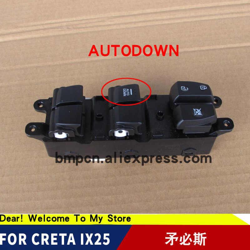 Pour Hyundai creta IX251.6 2.0 ensemble de commutateur de fenêtre d'alimentation avant gauche commutateur de vue arrière boutons de commande de verre de porte arrière