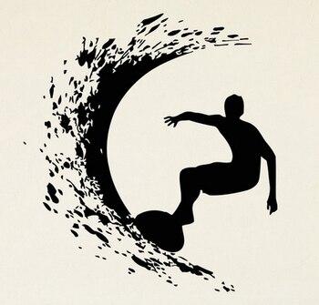 2016 スポーツ海サーフィン ビニール壁ステッカー サーフ ボード少年suring壁画ビニール デ カール少年の寝室の取り外し可能な家の装飾