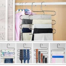 Magas Quilaty rozsdamentes acél S típusú 5 rétegű nadrágok Hanger pants Ruhaszárító többcélú kötőelemhez