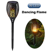 2Pcs 1Pcs Solar Flame Flickering Lawn Lamp Led Dancing Flame Light Solar Outdoor Waterproof Garden Decor