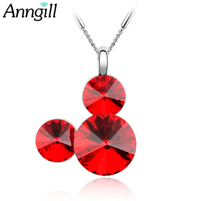 ANNGILL Genuine 100% Crystals from Swarovski Statement Head Necklace Chain Collar Animal Pendant Fashion New Jewelry Women