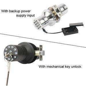 Image 3 - RAYKUBE Bluetooth Electronic Door Lock Knob Digital Code Door Lock APP Password Keyless Opeing Enter Smart Live Waterproof IP65