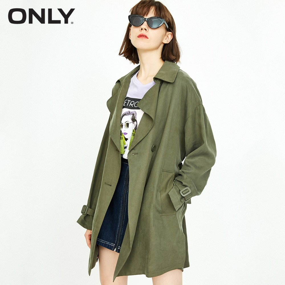 ONLY Women's  New Split Double-breasted Trench Coat | 118336501