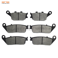 6 Pcs Motorcycle Front Rear Brake Pads Case For HONDA CB750N CB 750 N SEVEN FIFTY