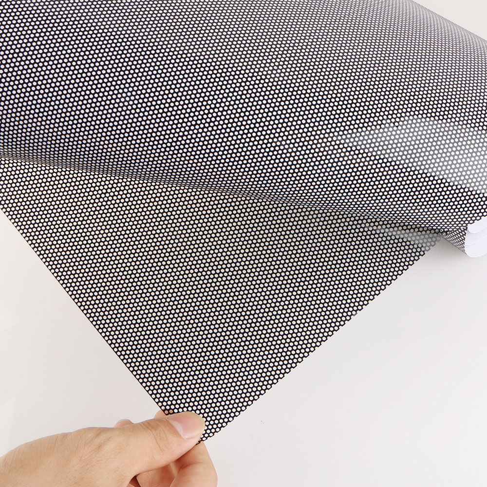 60x100CM Universal PVC Perforated Mesh Hollow Film Car Headlight Taillight - title=