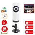 720 p wi-fi câmera ip panorâmica panorama 360 mini cctv segurança sem fio da câmera ip de seguridad câmeras suporte cartão micro sd