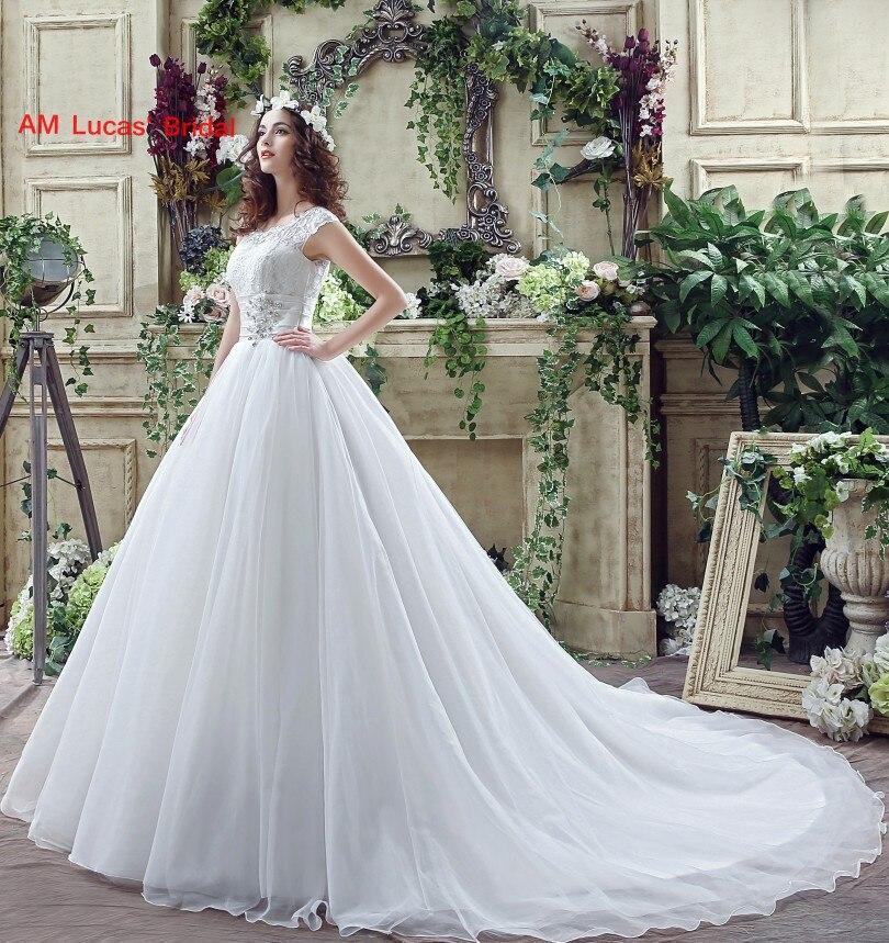 Simple Wedding Dress 2018 Bride Gowns Plus Size Tulle Lace