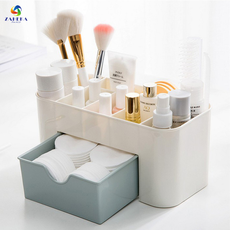 3 Colors Fashion Makeup Organizer Home Storage Box Desktop Shelves Storage Case Makeup Cosmetic Organizer for Jewelry