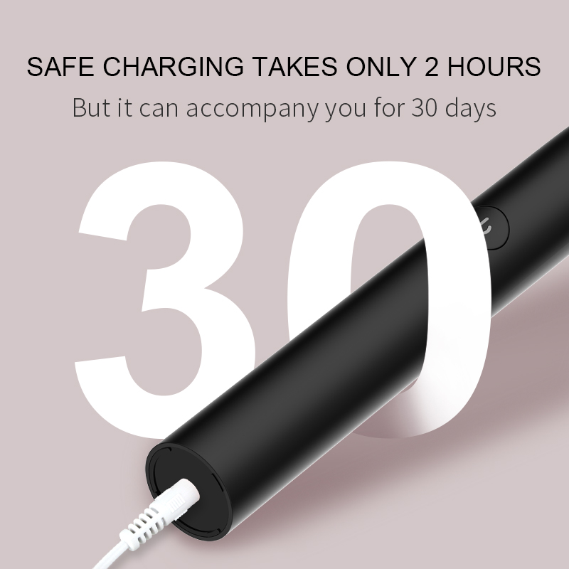SEAGO Sonic Electric Toothbrush USB Rechargeable Waterproof IPX8 Ultrasonic Toothbrush Adult Timer 5 Modes S2