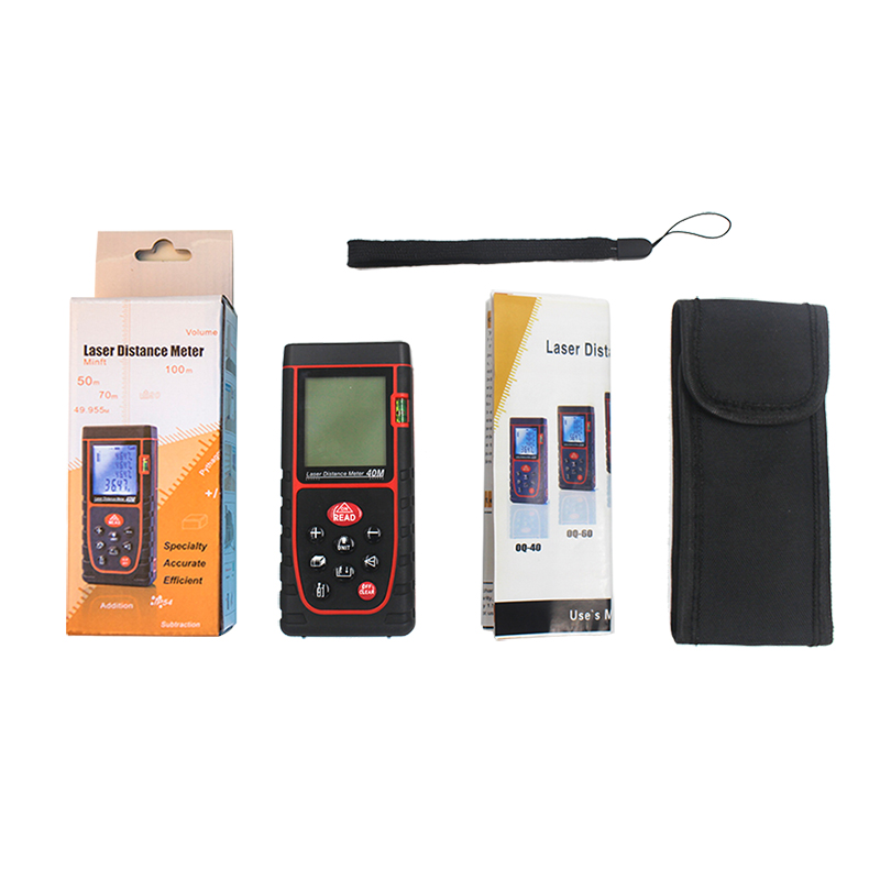 40M Digital laser rangefinder 131ft handheld distance meter Area-volume-Angle Calculation Laser range finder tape measure tool digital laser distance meter bigger bubble level tool rangefinder range finder tape measure 40m area volume angle tester