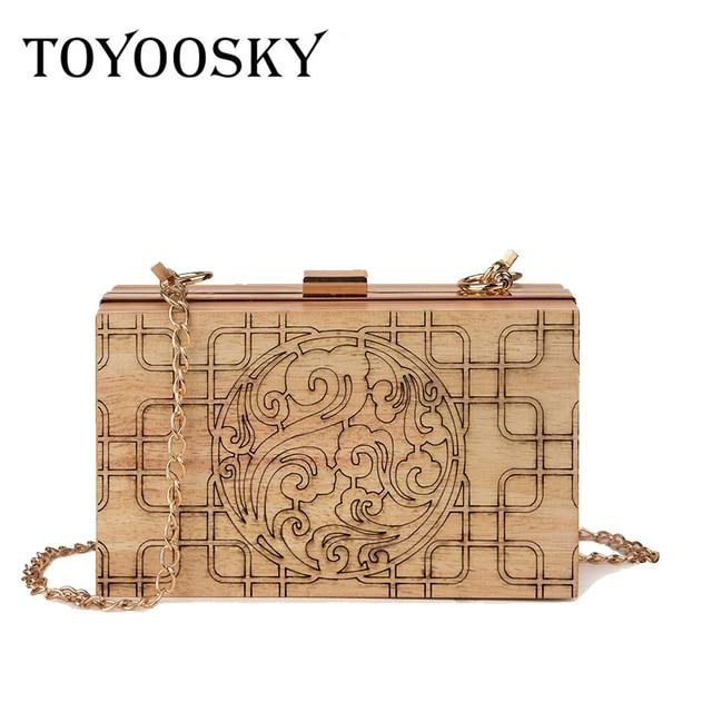 Toyoosky личности Box Форма сумка Для женщин Сумки Винтаж клатч Для женщин сумка кошелек Bolsos Mujer Вечеринка сумка