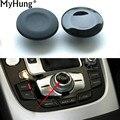 1 Peças de Botões de Navegação PC Carro Knob Botão Capa Para Audi A4 A5 Q5 Q7 A6L A8 Carro-Styling Auto Acessórios de decoração