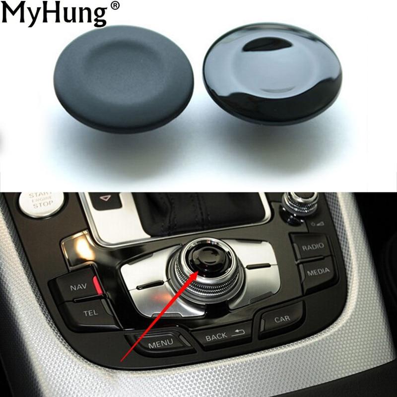 1 UNID Botones de Navegación Del Coche Piezas Botón Botón Cubierta Para Audi A4 A5 Q5 A6L Q7 A8 Car-Styling Decoración Auto Accesorios