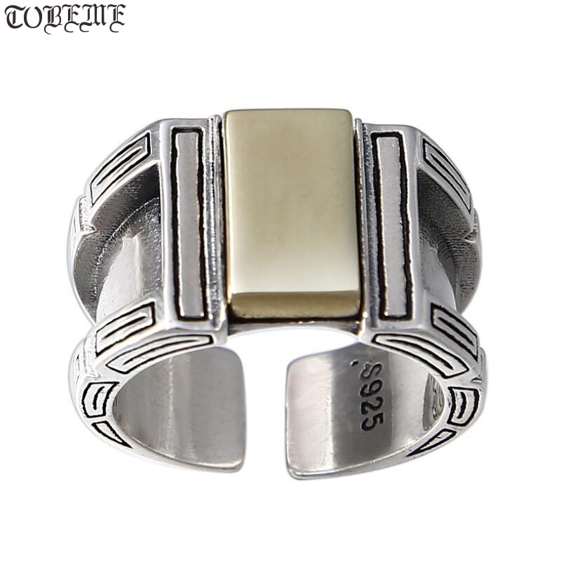 Handmade 925 Silver Man Ring 925 Sterling Silver Punk Ring Pure Silver Male Ring ResizableHandmade 925 Silver Man Ring 925 Sterling Silver Punk Ring Pure Silver Male Ring Resizable