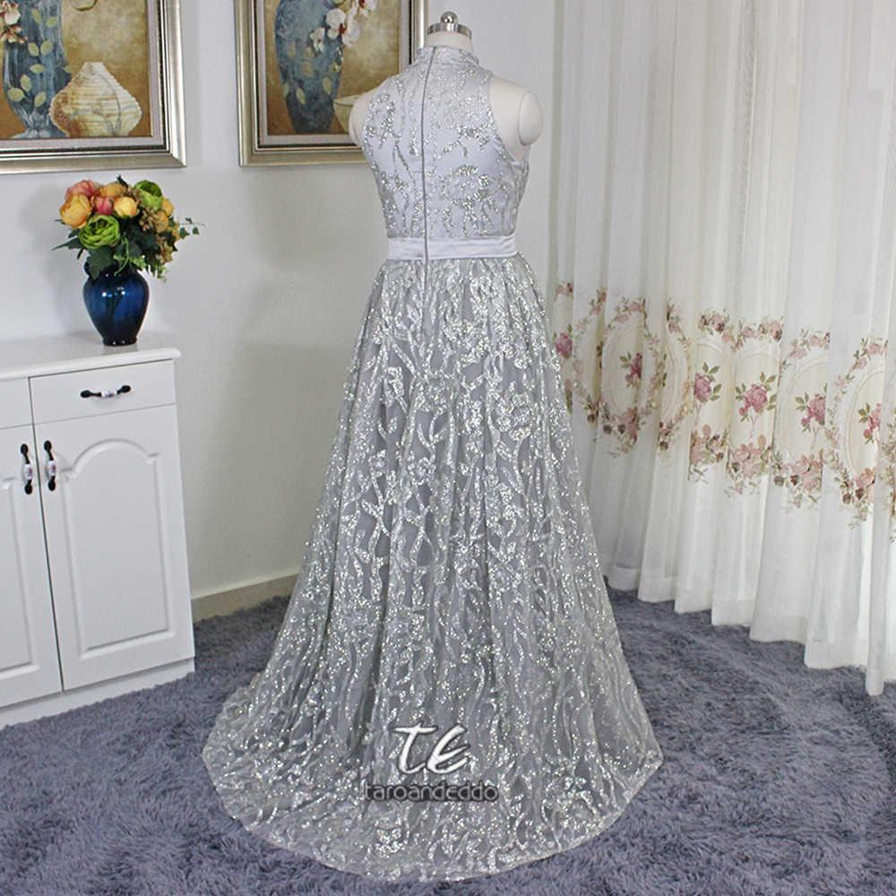 Стильное платье на выпускной со съемной юбкой, без рукавов, с серебряными пайетками, телесного цвета, Саудовской Аравии, большие размеры