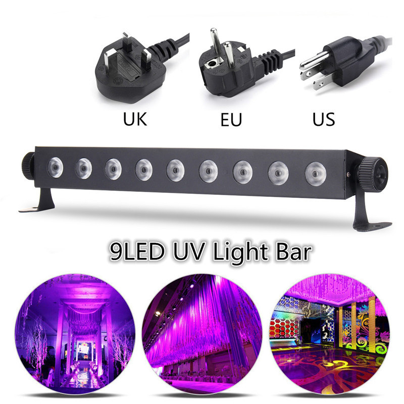 Remote Muti-mode UV Stage Light Purple Lighting Effect Night Light Wall UV Lamp For DJ Disco KTV Bar Christmas Party Lighting rg mini 3 lens 24 patterns led laser projector stage lighting effect 3w blue for dj disco party club laser