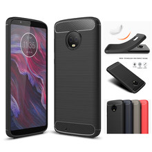 For Motorola Moto G6 Case Luxury Brushed Soft TPU Back Cover For Motorola Moto G6 Play Plus Silicone Phone Cases Coque(China)
