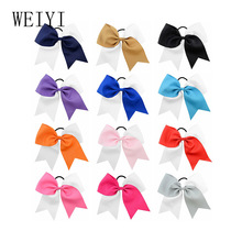 8 Inches Hairpin Headwear Girls Grosgrain Ribbon Cute Solid Hair Bows Children Princess Hairpins Kids Child Bowknot Hairclip 887 цена в Москве и Питере