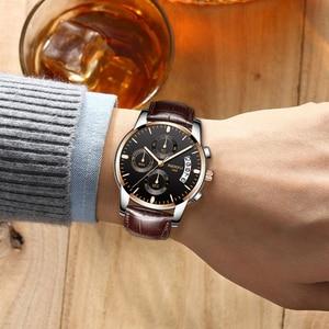 Image 5 - Moda męski zegarek biznesowy NIBOSI marka Sport zegarki kwarcowe wodoodporne zegarki skórzany pasek dla biznesu Relogio Masculino