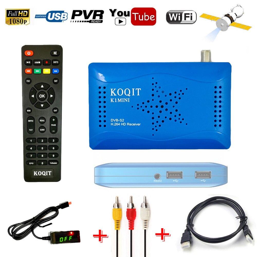 Dual USB DVB-S2 HD AC3 Digital Satellite Receiver IKS Cccam Newcam WIFI Youtube Power Vu Biss key HDMI Without one year Cline