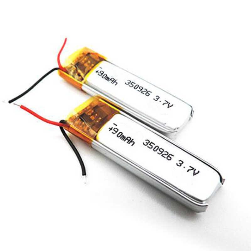 90 2600mahの 3.7v 350926 リチウムポリマーリポリチウムイオン充電式バッテリーMP3 MP4 MP5 gps dvdタブレットbluetoothカメラリポ電池