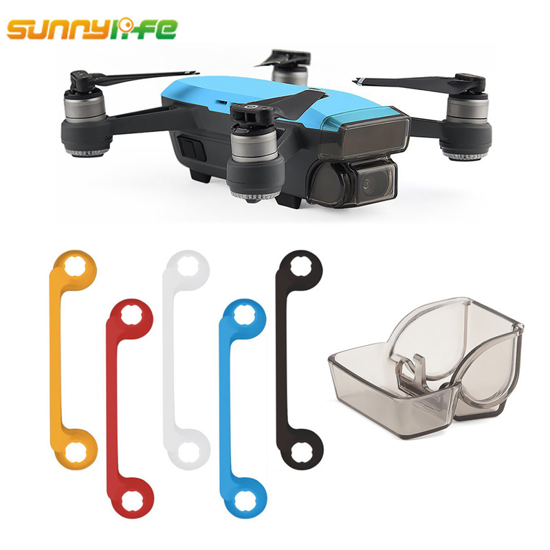 For DJI Spark Accessories SPARK Gimbal Camera Lens Cover + For DJI SPARK Remote Controller Joystick Thumb Guard Spark Drone