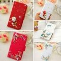 """8 novo estilo 3D Strass flores borboleta Azul de Alta qualidade Estojo de couro PU para Meizu M3 nota 5.5 """"Sacos de telefone celular"""