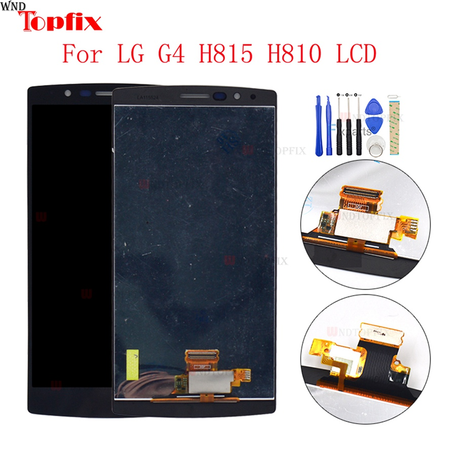 100% Tested 5.5inch LCD For LG G4 H815 H812 LCD Display Touch Screen Digitizer Assembly With Frame Pantalla Replacement Parts image