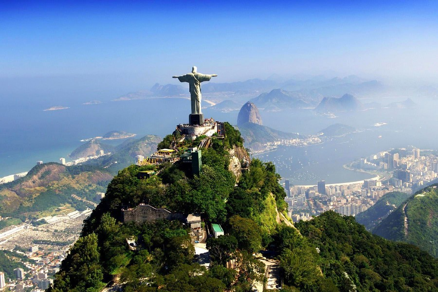 Diy Frame Brazil Christ The Savior Grande City Landscape