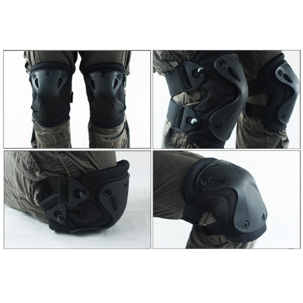 4Pcs/Set Military Tactical paintball protection knee pads & elbow protector pads set outdoor sport Airsoft Hunting Equipment