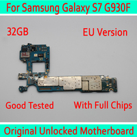 For Samsung Galaxy S7 G930F Motherboard 32gb with Android System,Original unlocked for Galaxy S7 G930F Logic board EU Version