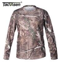 TACVASEN Spring Camouflage Men T Shirt Army Combat Tactical T Shirt Military Autumn Men Quick Dry