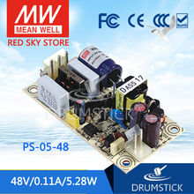 цена на [XI] Hot! MEAN WELL original PS-05-48 48V 0.11A meanwell PS-05 48V 5.28W Single Output Switching Power Supply