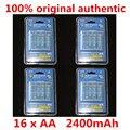 16 х aerfago AA Батареи NI-MH 2400 мАч 1.2 В AA Аккумулятор Baterias с 1 Батареи Держать Дело Box