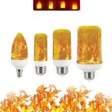 Светодиодная лампа с пламенем 5 Вт 9 Вт 15 Вт E27 E14 B22 85-265 в Светодиодная лампа с эффектом декорации, светодиодная лампа с эффектом огня, Ampul светильник, Lampara, Мерцающая лампа