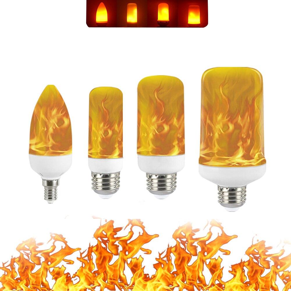 Led Flame Bulb 5W 9W 15W E27 E14 B22 85-265V Luces Led Decoracion Effect Fire Lamp Leds Ampul Light Lampara Flickering Lampada
