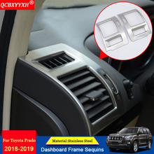 QCBXYYXH Car-styling Car Dashboard Frame Air Conditioning Outle Decorative Cover Sequins Accessories For Toyota Prado 2010-2018