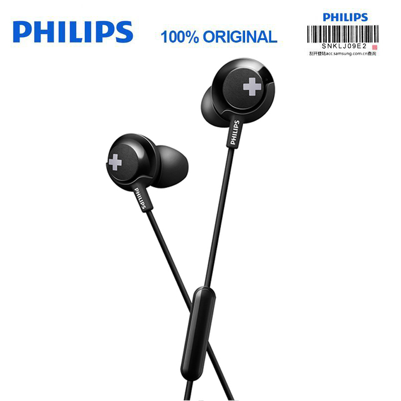 Galleria fotografica <font><b>Philips</b></font> SHE4305 3.5mm wired control In-Ear Sport Earphone with Noise Canceling Stereo Bass HIFI Headset for Xiaomi/samsung s8/s9
