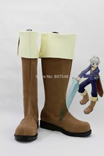 Tales Of Innocence Cosplay Men Boots Boys Shoes Custom Knee-High Riding Free Shipping